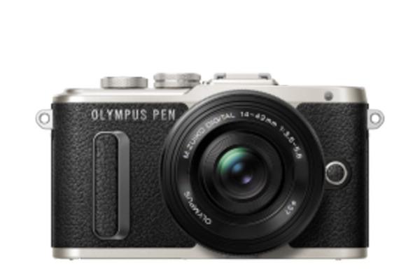 Olympus E-PL8 Pancake Zoom Kit Sort E-PL8 + EZ-M1442EZ Sort