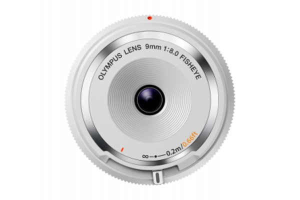 Olympus Body Cap Lens 9mm f/8.0 fisheye Hvid - BCL-0980