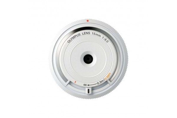 Olympus Body Cap Lens 15mm f8.0 Fisheye Hvid